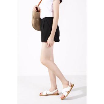 Quality Fashion Women Flat Strap Cross Sandals - White - 2