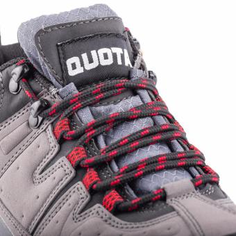 Quota Trekker Shoes Grey/Red - 5