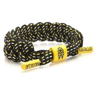 RASTACLAT Shoelace Bracelet The Burgh (Black/Yellow/White)