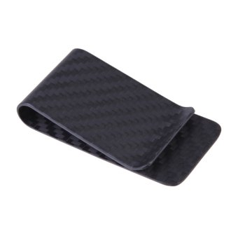 Real Carbon Fiber Money Clip Business Card Credit Card Cash WalletMatte ( Intl)