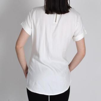 Redgirl Short Sleeves Blouse Rlt04-3037 (White) - 2