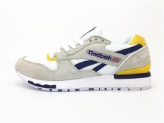 Reebok Mens Casual Shoes GL6000 Sports Shoes Running Shoes ReebokClassical Walking  Shoes (grey yellow) bf5a8ab13c