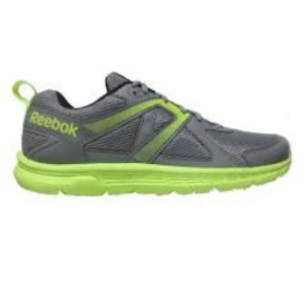 Reebok Run Supreme Running Shoes (Flat Grey/SolarYellow/White/Black) - 2