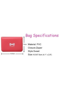 Ribbon Bank Bus Card Case Rose - picture 2