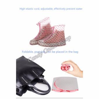 Rising Star Waterproof Non-slip rain shoe covers (Pink) - 5