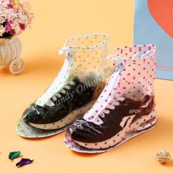 Rising Star Waterproof Non-slip rain shoe covers (Pink) - 4