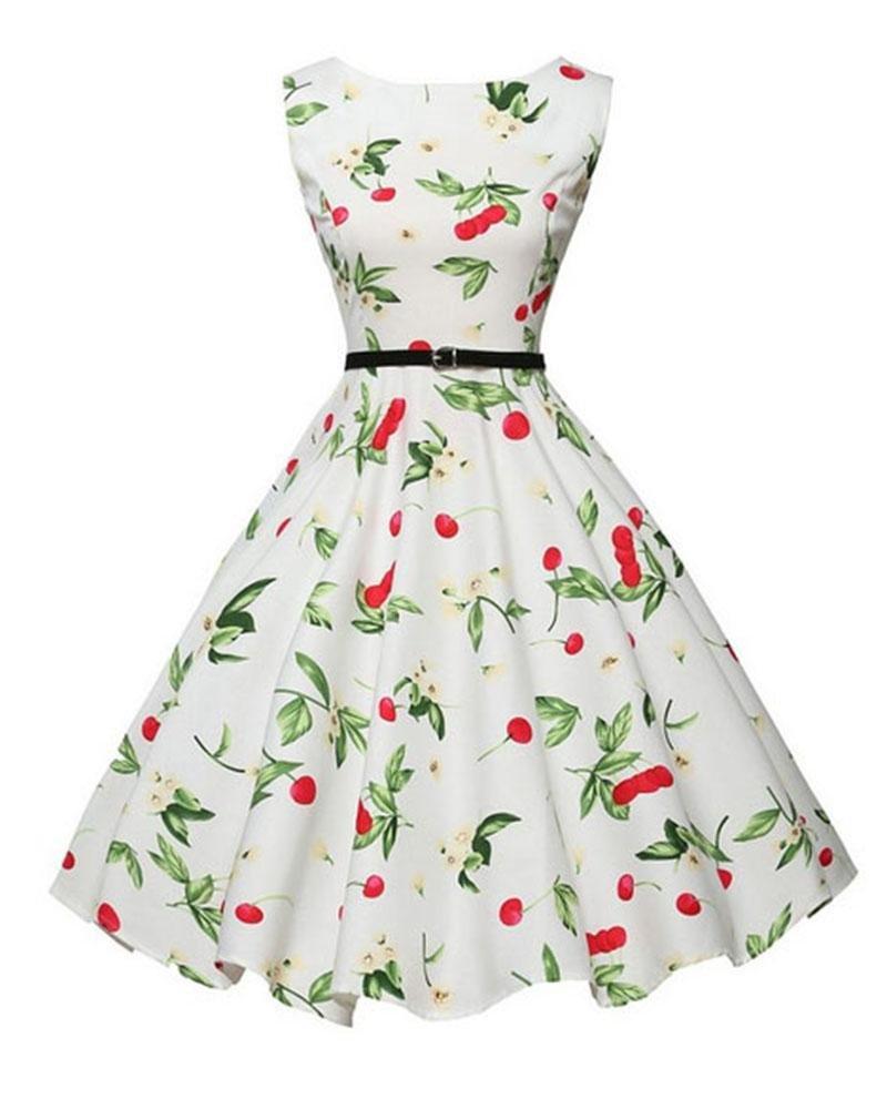 ce44327df0b9d Philippines | Robe ete Women's Audrey Hepburn Summer Dress Vintage ...