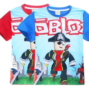 ROBLOX Boys' 105-155cm Body Height Cotton T-shirts(Color:Red) - intl - 4
