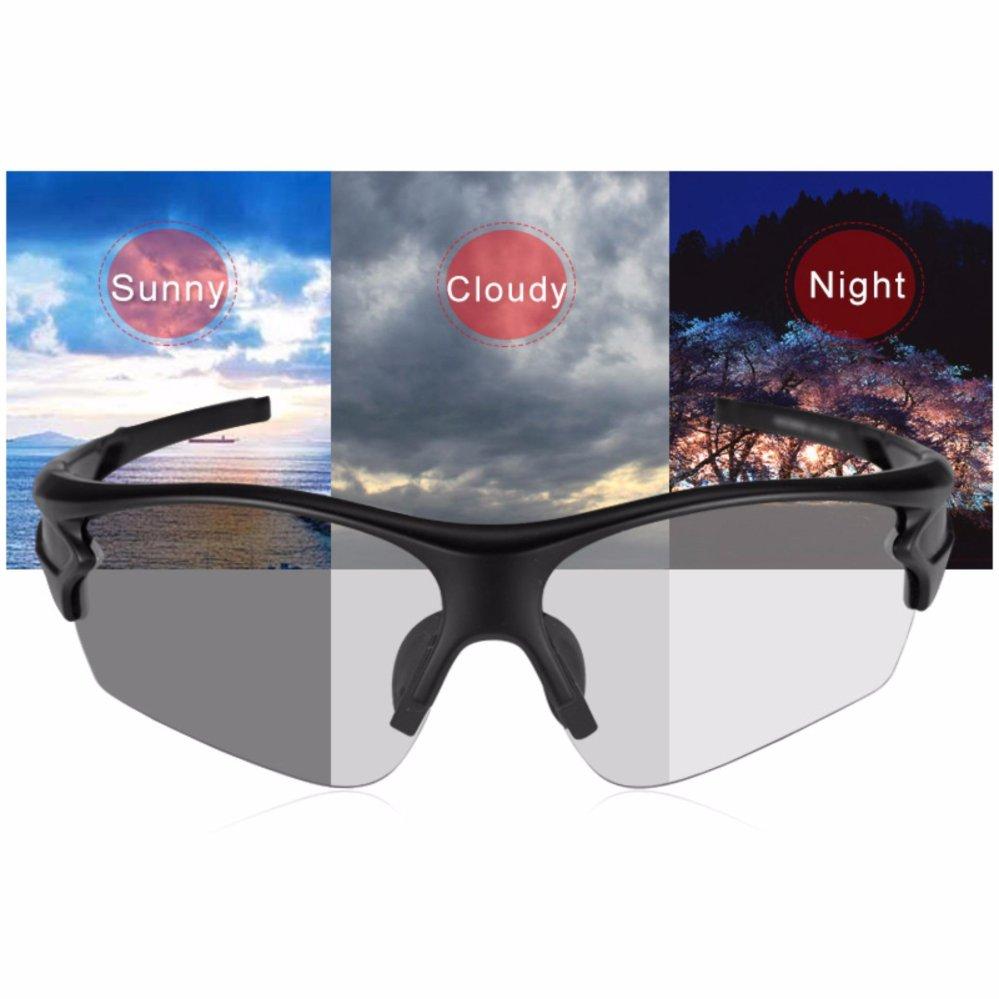 Rockbros Kacamata Sepeda Polarized Bike Cycling Glasses Sports Sunglasses 5 Lens White Photochromic Outdoor Mtb Bicycle Goggles