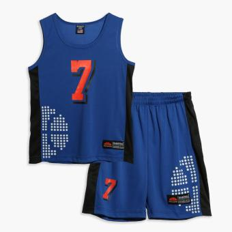Rookie Boys 7 Jersey Shorts Set (Blue) Price Philippines