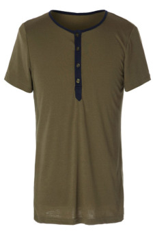 Round Neck Slimming T-Shirt (Brown)