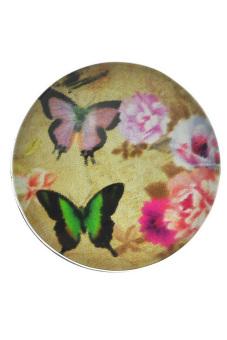 Round Snap Button Fit DIY Bracelets Butterfly Flower Multicolor