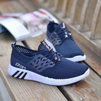Running Sneakers Men Zapatillas Deportivas Hombre Free Run for Mens Trainers Sports Jogging Homme Lightweight Comfortable Shoes(Blue) - intl