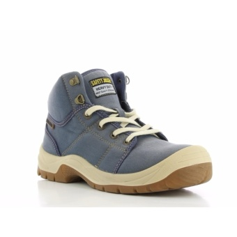 Safety Jogger Desert S1P High Cut Safety Shoes Work Boot Footwear Steel Toe Oil Resist Anti-slip ( Denim Blue )