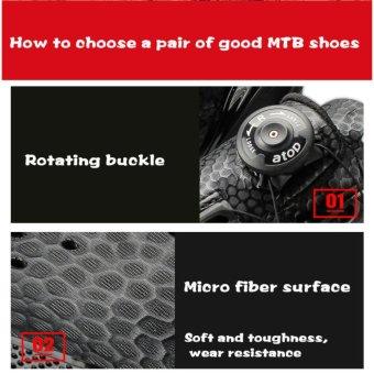 Santic Men Ultra Fiber Self-locking Professional Mesh MTB ShoesCycling Shoes Black Breathable Nylon TPU Strong Sole Auto-LockMountain Bike Shoes Sport Shoes Riding Equipment - intl - 4
