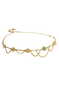 Sanwood Alloy Chain Headband Gold