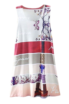 Sanwood® Feather Graphic Printed Dress Muliticolor