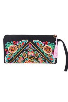 Sanwood® Galsang Flower Ethnic Purse Multicolor
