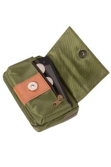 Sanwood® Men's Waist Bag Canvas Outdoor Hiking Pouch Army Green - picture 2