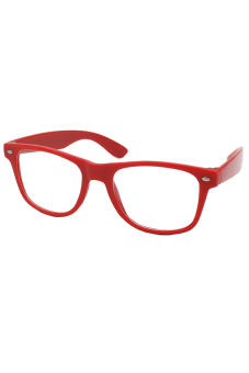 Sanwood Unisex Clear Lens Glasses Red