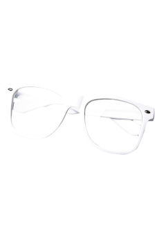Sanwood Unisex Clear Lens Glasses White