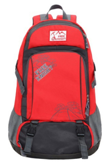 Sanwood Unisex Travel Climbing School Bag Outdoor Backpack Red - picture 2