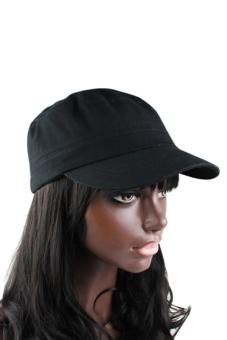Sanwood Vintage Military Adjustable Hat Black