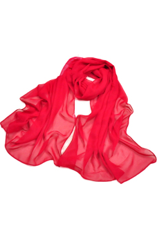Sanwood Women's Chiffon Feel Head Scarf Red - picture 2