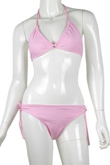 Sanwood Women's Lingerie Swimwear Bikini Set (Pink)