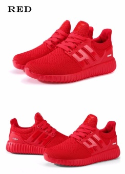 SDP Lightweight Comfortable Running Sneakers Men ZapatillasDeportivas Hombre Free Run For Mens Trainers Sports Jogging HommeShoes (Red) - intl