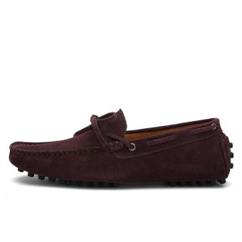 Seanut Fashion Leather Slip On Men Loafers Casual Shoes (Coffee) -intl - 3