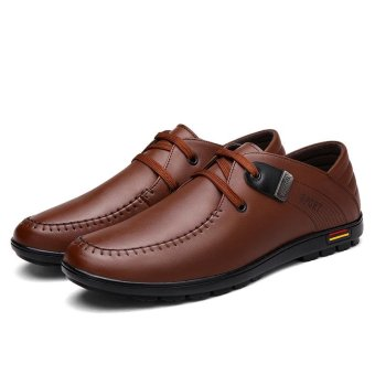 Seanut Fashion Men's Casual Leather Shoes (Brown) - intl - 4