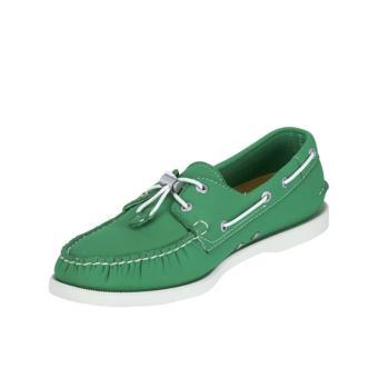 Sebago Docksides Men Boat Shoes (Green Neoprene) - 3