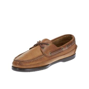 Sebago Schooner Boat Shoes (Cognac Leather) - 3