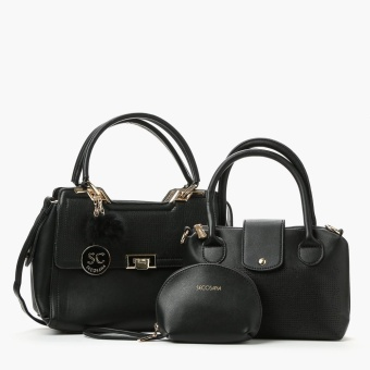 Secosana Ladies SKC-17696 Hand Bags and Pouch Set (Black)