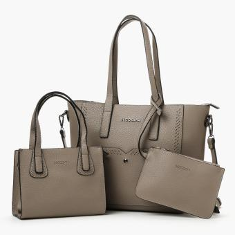 Secosana Ladies SKC-17705 Tote Bags and Pouch Set (Khaki)