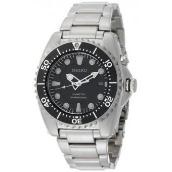 Seiko Kinetic Divers Men's Silver Strap Watch SKA371P1