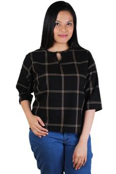 Semi-Formal Quarter Sleeves Blouse (Black) | Lazada PH