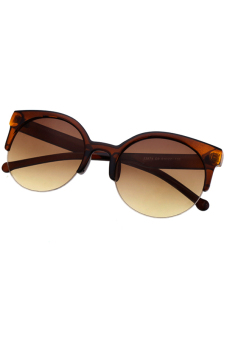 Semi-Rimless Sunglasses (Brown)