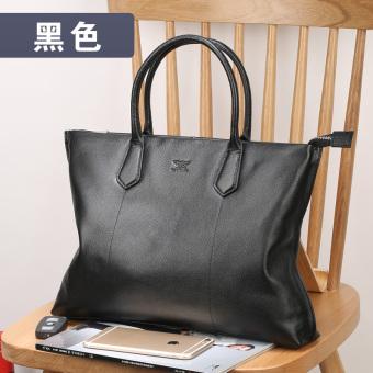 Septwolves men New style briefcase file bag (Black)