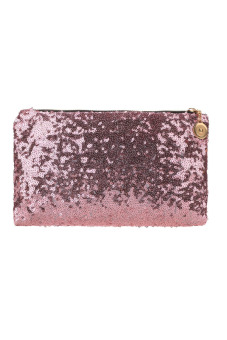 Sequins Clutch Evening Party Bag (Pink)