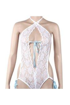 Sexy Lingerie Lace Underwear Babydoll Sleepwear Nightwear (White)