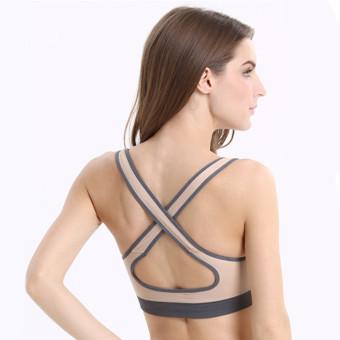 Sexy Women Padded Sports Yoga Bra Top Vest Gym Fitness nude - Intl - 3