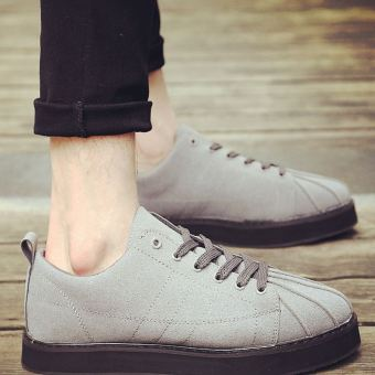 4c9afb55e1a6 Presyo Shell head New style Spring Heavy-bottomed platform shoes men s  (QDG26 gray) in Philippines