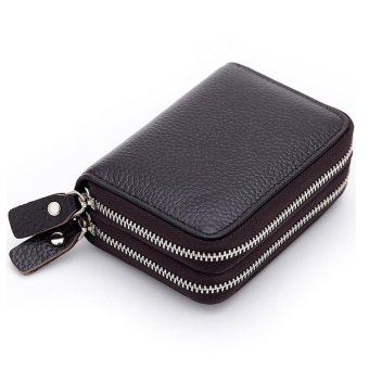 Short Wallet Genuine Leather RFID Blocking Safe Card Holder Forwomen - intl - 3