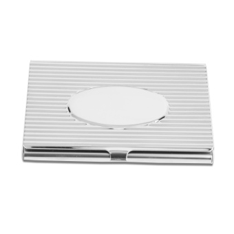 Price list new cross pattern flat flip style business card holder silver striped oval flip style business card holder business card box reheart Images