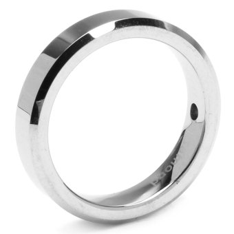 Silverworks T38 Beveled Edges and a Center Diamond Ring (Black)