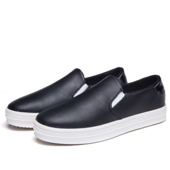 Simple Fashion Men's Loafers – Black - picture 2