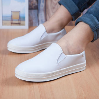 Simple Fashion Men's Loafers – White - picture 2