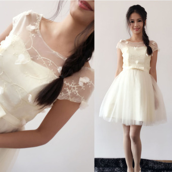 Sisters straps paragraph bridesmaid dress for women (Champagne color)